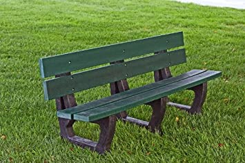 Amazon Com Petrie Resin Wood And Plastic Park Bench Finish Cedar