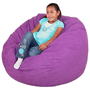 Cozy Sack 3-Feet Bean Bag Chair, Medium, Purple
