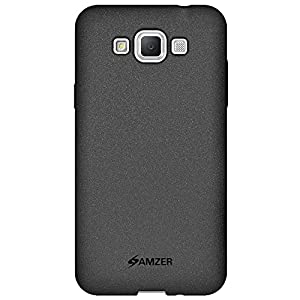 Amzer Pudding Soft Gel TPU Skin Fit Case Cover for Samsung Galaxy Grand Max SM-G7202 - Retail Packaging - Black