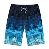 DHnewsun Men's Printing Quick Dry Beach Board Shorts Swim Trunks Plus Size 4XL