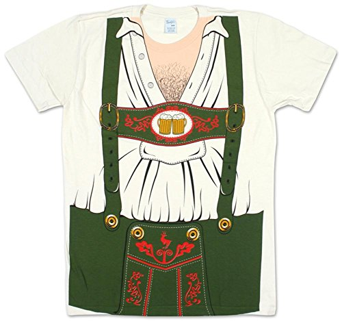 Impact Originals Octobeerfest Oktoberfest Mens White Costume T-Shirt (XX-Large, White)]()