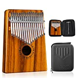 GECKO Kalimba 17 Keys Acacia(KOA) Thumb Piano and EVA High Performance Protection Box, Tuning Hammer, Professional models.
