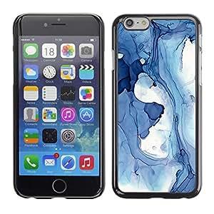 Jordan Colourful Shop - Blue White Ice Winter Snow For iPhone 6 Custom black plastic Case Cover