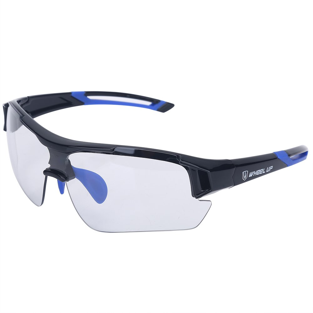 Tbest Unisex Photochromic Sunglasses,Windproof UV Protection Bike Glasses Photochromic Safety Glasses Polarized for Outdoor Sport Mountain Cycling Motocycle Driving Hiking Fishing (Blue) by Tbest