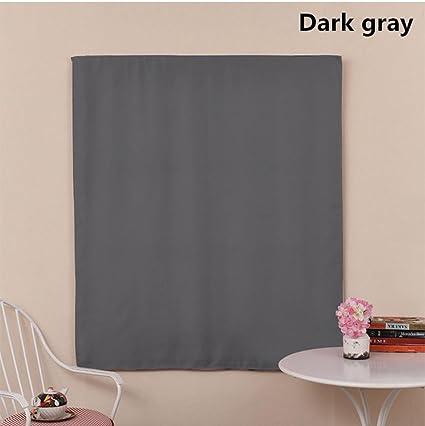 Cortinas y cortinas Cortinas oscuras Velcro Poliéster para Sala de alquiler Cuarto Paño de sombreado baño