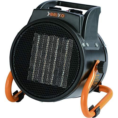 Gé né rateur d'air chaud 2000W é lé ctrique 230V BRIXO Cé ramique 3 puissances de chauffe