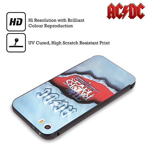 Officiel AC/DC ACDC Le Bord De Rasoirs Art D'album Noir Étui Coque Aluminium Bumper Slider pour Apple iPhone 5 / 5s / SE