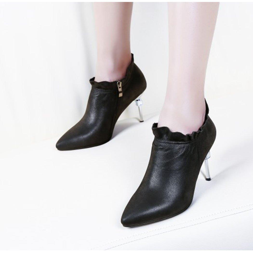 RLYAY Frauen Spitz High Heels Pumps Pumps Pumps Crystal Lace Stiletto Heels Arbeit Freizeitschuhe schwarz Caramel 6a490d