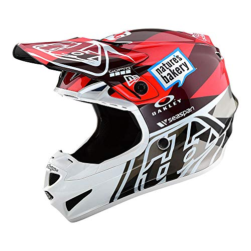 Troy Lee Designs Adult Polyacrylite SE4 Jet | Offroad | Motocross | Helmet (Large, Orange/Grey)