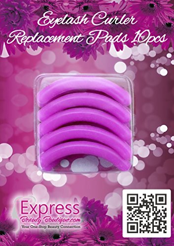 Express Beauty Boutique Eyelash Curler Silicone Replacement Pads. 10 pcs Pink Refills Create Permanent Eye Lash Curls