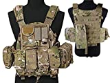 Tactical Multi Attack Molle Combat Vest Magazine Pouch Airsoft Paintball Military CP