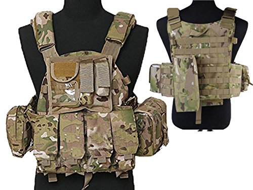 Tactical Multi Attack Molle Combat Vest Magazine Pouch Airsoft Paintball Military CP by MDG