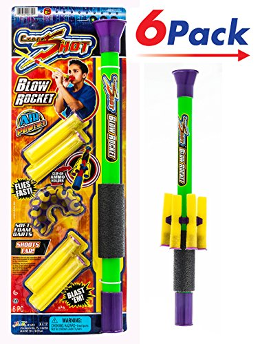 Foam Darts Blow Gun by 2Chill |Toy Gun for Kids Pack of 6 | Item #659 by 2CHILL