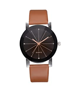 Charberry Women's Casual Quartz Leather Band Newv Strap Watch Analog Wrist Watch Brown