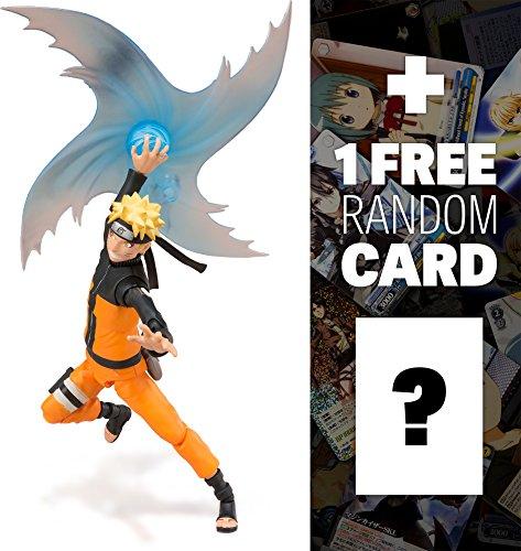 "Naruto (Sage Mode): ~5.5"" Naruto Shippuden x Tamashii Nations S.H. Figuarts Action Figure + 1 FREE Anime Themed Trading Card Bundle"