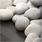 20lbs Off White / Light Gray Heat Resistant Natural Fire Stones for Fireplace , Fire Pits