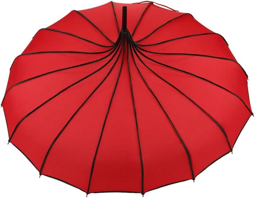 EFE Fe Vintage Parapluie Mariage F/ête Soleil Pluie UV Parapluie Noir Rose