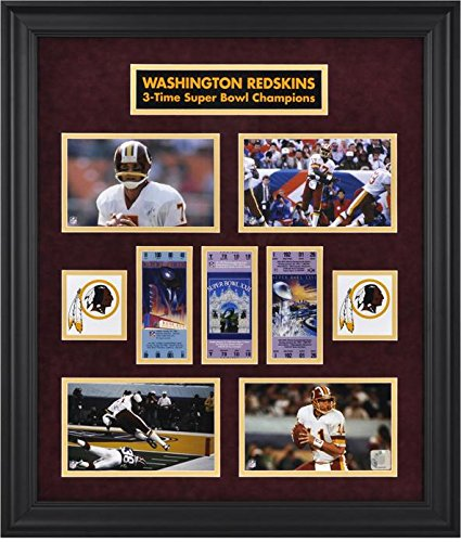 Washington Redskins Framed Super Bowl Ticket Collage-Limited Edition of 1000 - NFL Ticket Plaques and Collages