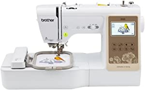 Brother SE625 Combination Computerized Sewing and 4x4 Embroidery Machine with Color LCD Display, 280 Total Embroidery Designs
