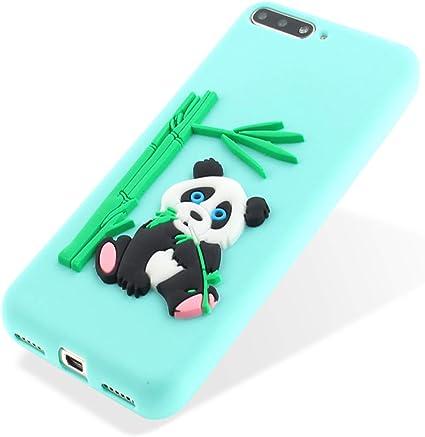 MoreChioce Compatible avec Coque Huawei Y6 2018 Housse de Protection, Kawaii 3D Bambus Panda Vert Motif Hybrid Silicone Bumper Dur Protection Rigid ...