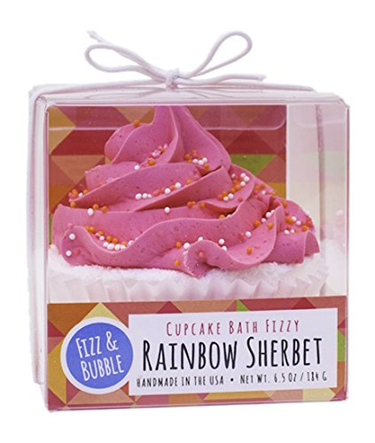 (Fizz & Bubble Bath Fizzy Bomb Cupcake Rainbow Sherbet 6.5 Ounce)