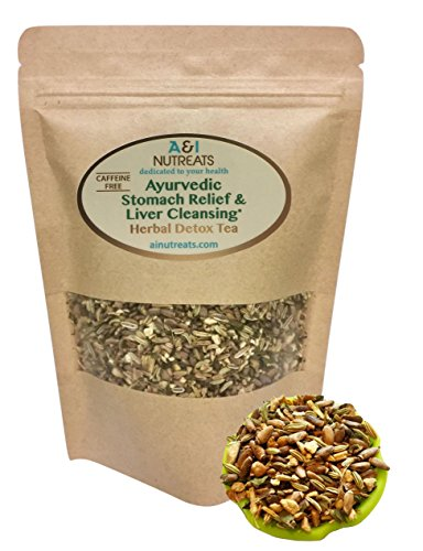 Ayurvedic Antacid Stomach Relief & Liver Cleansing Detox tea - Organic Loose Leaf Milk Thistle, Fennel, Ginger, Peppermint and Licorice Tea (Loose Tea, 5 oz.)