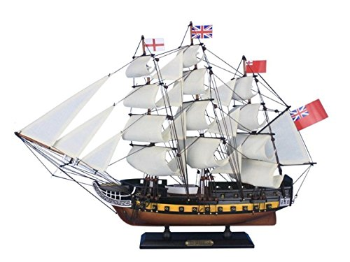 Hampton Nautical Wooden HMS Surprise Master and Commander Model Ship, 24""