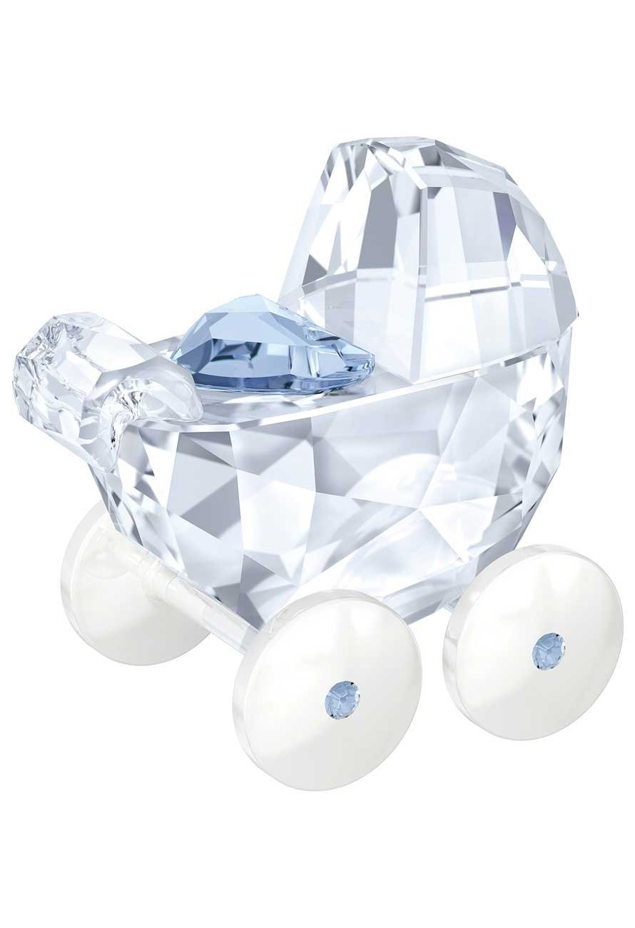 Swarovski Baby Carriage, Crystal and Blue