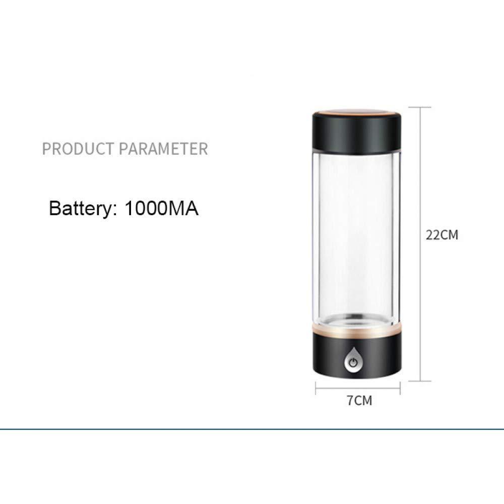 UTNF SPE/Pem Generador De Hidrógeno Rico Botella De Ionizador De Agua Separa H2 Y O2 Botella De Pet De Hidrógeno Puro Alto Uso, Café: Amazon.es: Deportes y ...