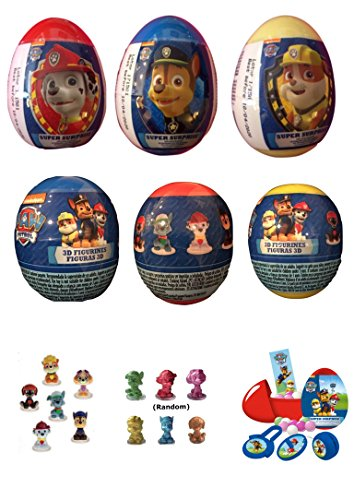 Paw Patrol 6 New Plastic Surprise Eggs!