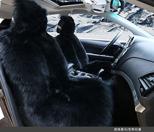 Astounding Oflba 1Pcs Black Faux Sheepskin Car Seat Cover Long Wool Pabps2019 Chair Design Images Pabps2019Com