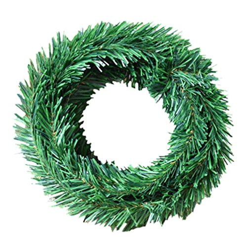 Hot Sale!!5.5M Christmas Decoration Hanging Tinsel,Xmas Tree Leaves Ornaments (Green) (Sale Tinsel For)