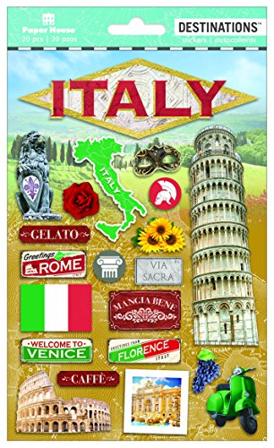 (Paper House Productions Travel Italy 2D Stickers,)