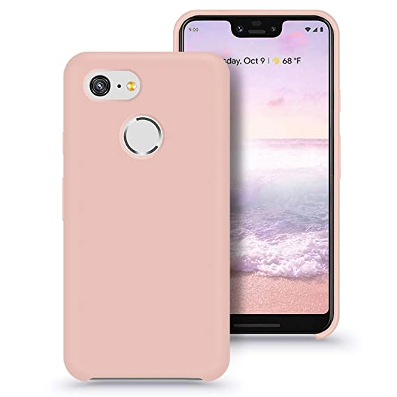 new concept 4dcf8 81e26 Google Pixel 3 XL Case, Xperg Silicone Gel Slim Rubber Phone Case Soft  Microfiber Cloth Lining Cushion Compatible for Google Pixel 3 XL 6.3