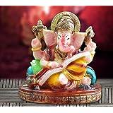 TiedRibbons Small God Ganesha Car Dashboard Decor Statue | Hindu Idol God Ganesh Ganpati Decor Sculpture | Decorative Gift(9.5cm x 9.5cm)