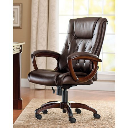 Bonded Leather Executive Office Chair With Lumbar Support from Better Homes and Gardens