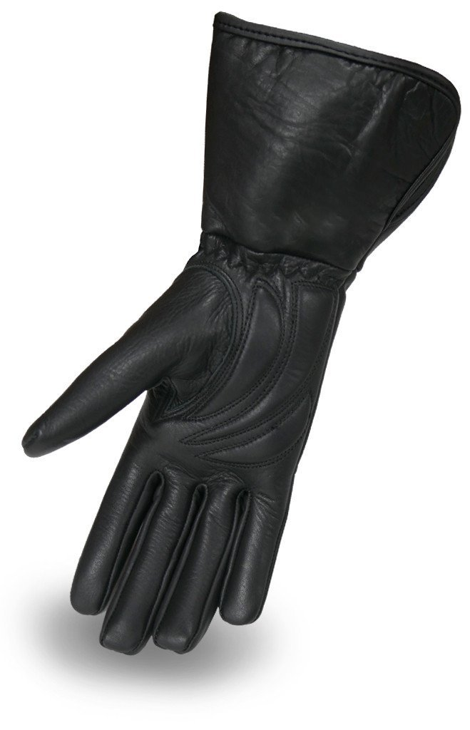 First Mfg Co Womens Catwoman Leather Motorcycle Gloves Black XXX-Large First Manufacturing FI197GEL-Black-3XL-Catwoman