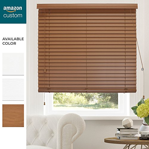 CHICOLOGY Custom-Made 2 in. Faux Wood Blind, Simply Brown, Outside Mount, Right Lift Cord, 27'' W X 36'' H by CHICOLOGY (Image #5)