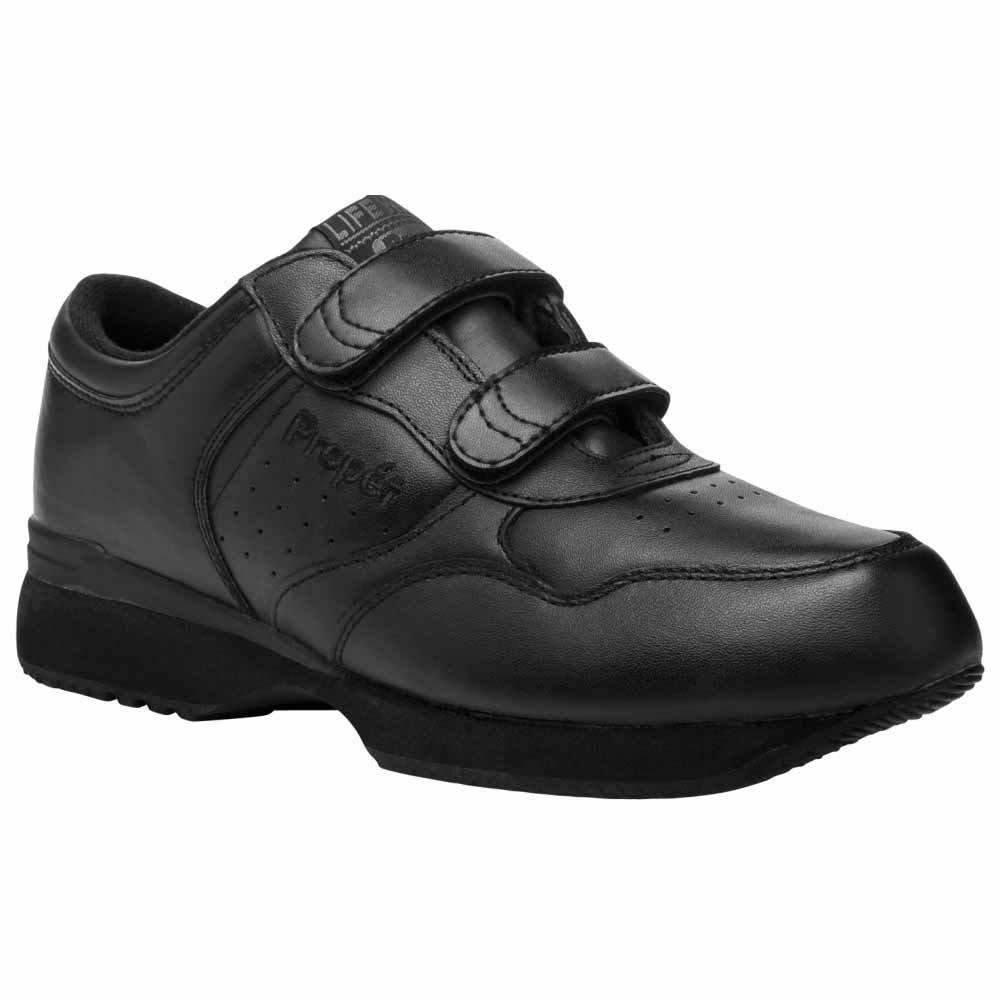 Propet Men's Life Walker Shoe 9.5 5E US Black