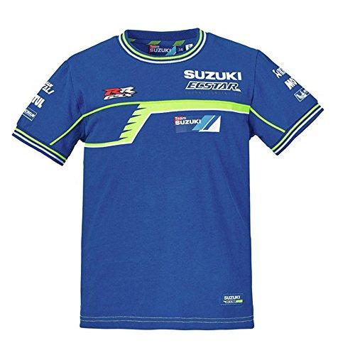 SUZUKI MotoGP Team T-Shirt Ecstar Racing ! blau weiß neon