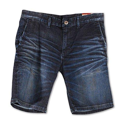 Corto Azul Hombre Denim Rivet De Cru Pantalón Para gIZfwq