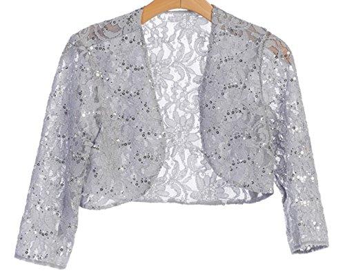 Angel's 3/4 Sleeve Lace Bolero Bridal Jacket Bodice Fully Lined Shrug Jacket NWT (5x, ()