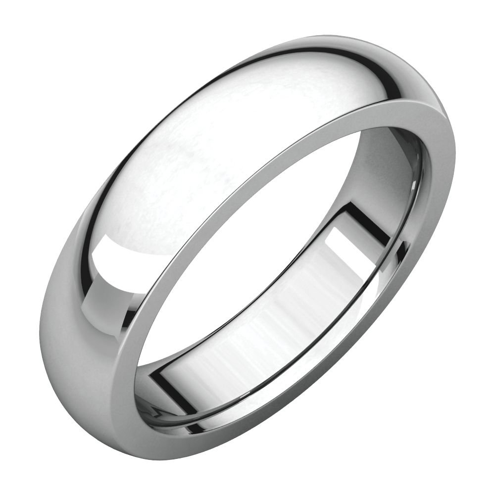 Jewels By Lux Continuum 925 Sterling Silver 5mm Heavy Comfort Fit Mens Wedding Ring Band