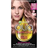 Garnier Olia Ammonia-Free Brilliant Color Oil-Rich Permanent Hair Color, 8.22 Medium Rose Gold (1 Kit) Pink Hair Dye (Packaging May Vary)