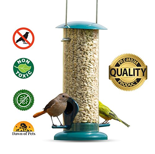 Dawn of Pets Bird Feeder for Outside, Weather Proof, Hanging, Easy to Setup, Durable,, Tube Bird Feeder for (Millet Bird Feed)