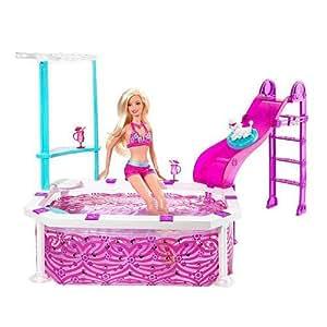 Mattel T2333 Barbie - Piscina para Barbie (incluye muñeca)
