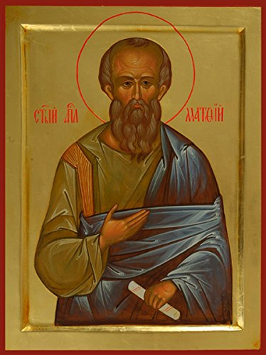St. Matthew the Evangelist Traditional Panel Russian Orthodox - Icon Evangelist