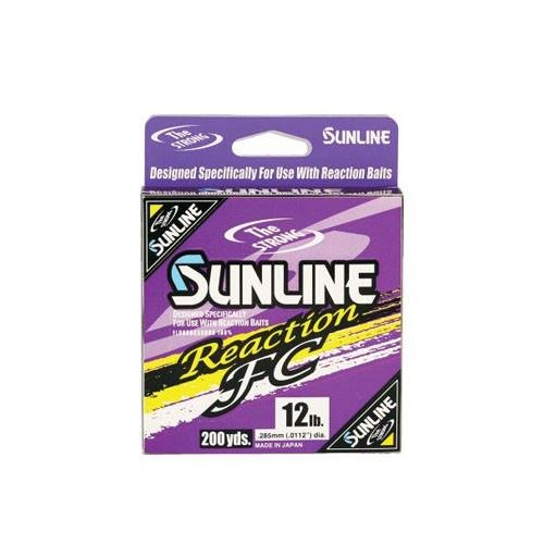 (Sunline Reaction FC Fluorocarbon Fishing Line (Stealth Gray, 8-Pounds/200-Yards))