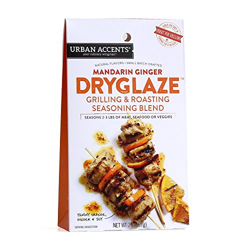 Mandarin Ginger Grilling and Roasting Dryglaze – Gourmet Seasoning Mix - Urban Accents, 2.0-Ounce Package - Mandarin Glaze
