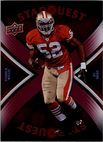 2008 Upper Deck Star - 2008 Upper Deck Star Quest Rainbow Red #SQ24 Patrick Willis - Football Card